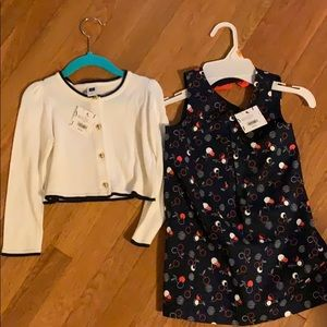 Janie and Jack Size 3 dress and sweater
